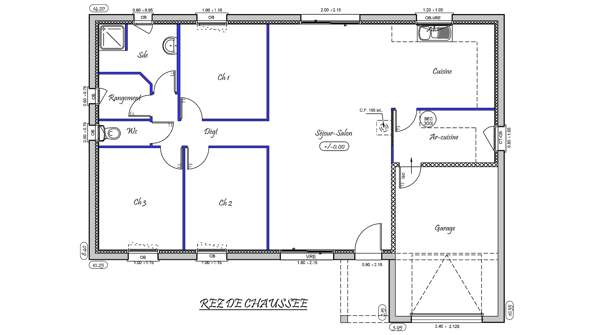 Plan Maison F4 Awesome A Vendre Maison F Neuve Paea Vendu With Plan