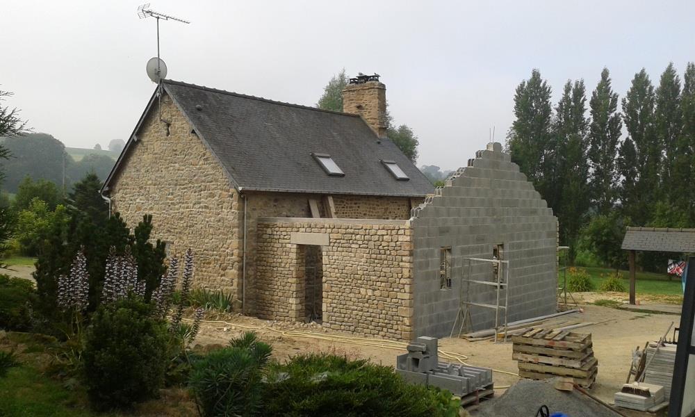 Extension En Pierre D 39 Une Habitation Nos Chantiers De Maisons Individuelles En Bretagne