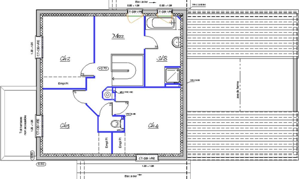 contemporaine 137 m type f6 catalogue constructeur maison neuve traditionnelle en. Black Bedroom Furniture Sets. Home Design Ideas