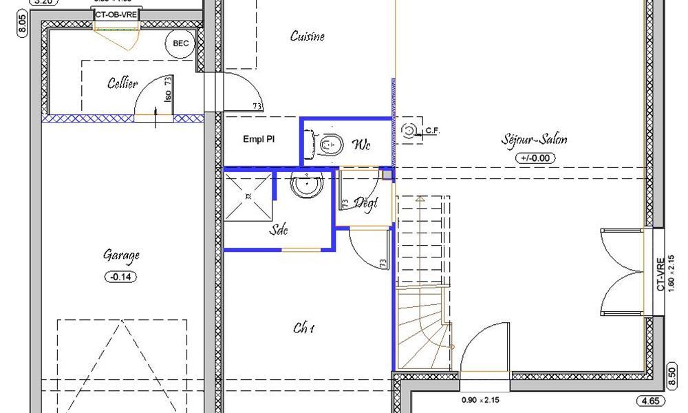 plan de maison f5