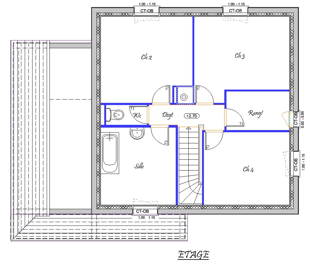 plan de dressing chambre finest plan maison chambres gratuit plan with plan de dressing chambre. Black Bedroom Furniture Sets. Home Design Ideas