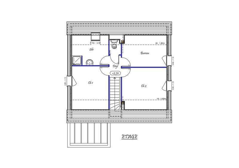 Clara 82 m type f4 catalogue constructeur maison for Plan maison type f4