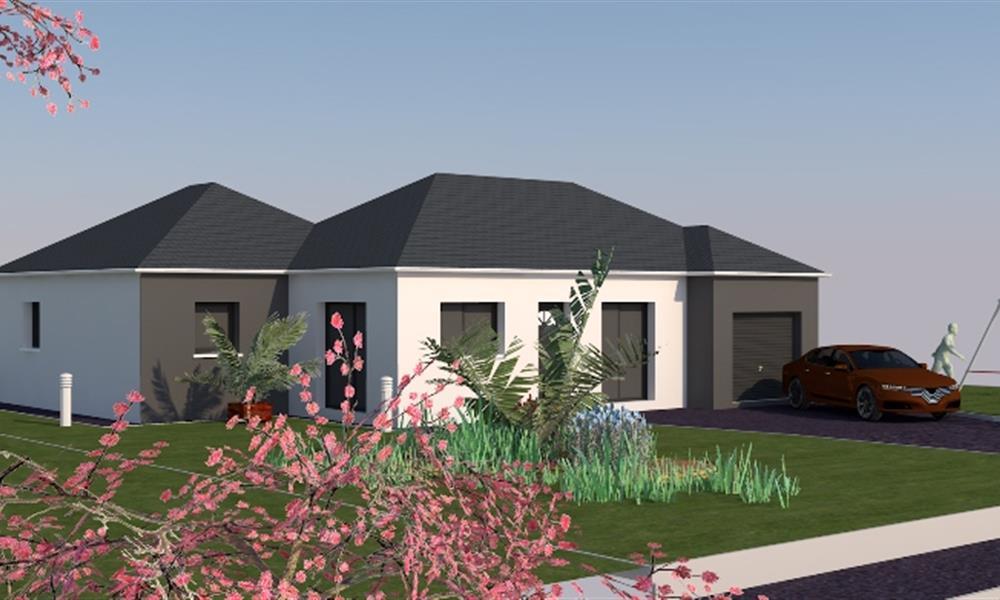 julia 91 m type f4 catalogue constructeur maison neuve traditionnelle en bretagne. Black Bedroom Furniture Sets. Home Design Ideas