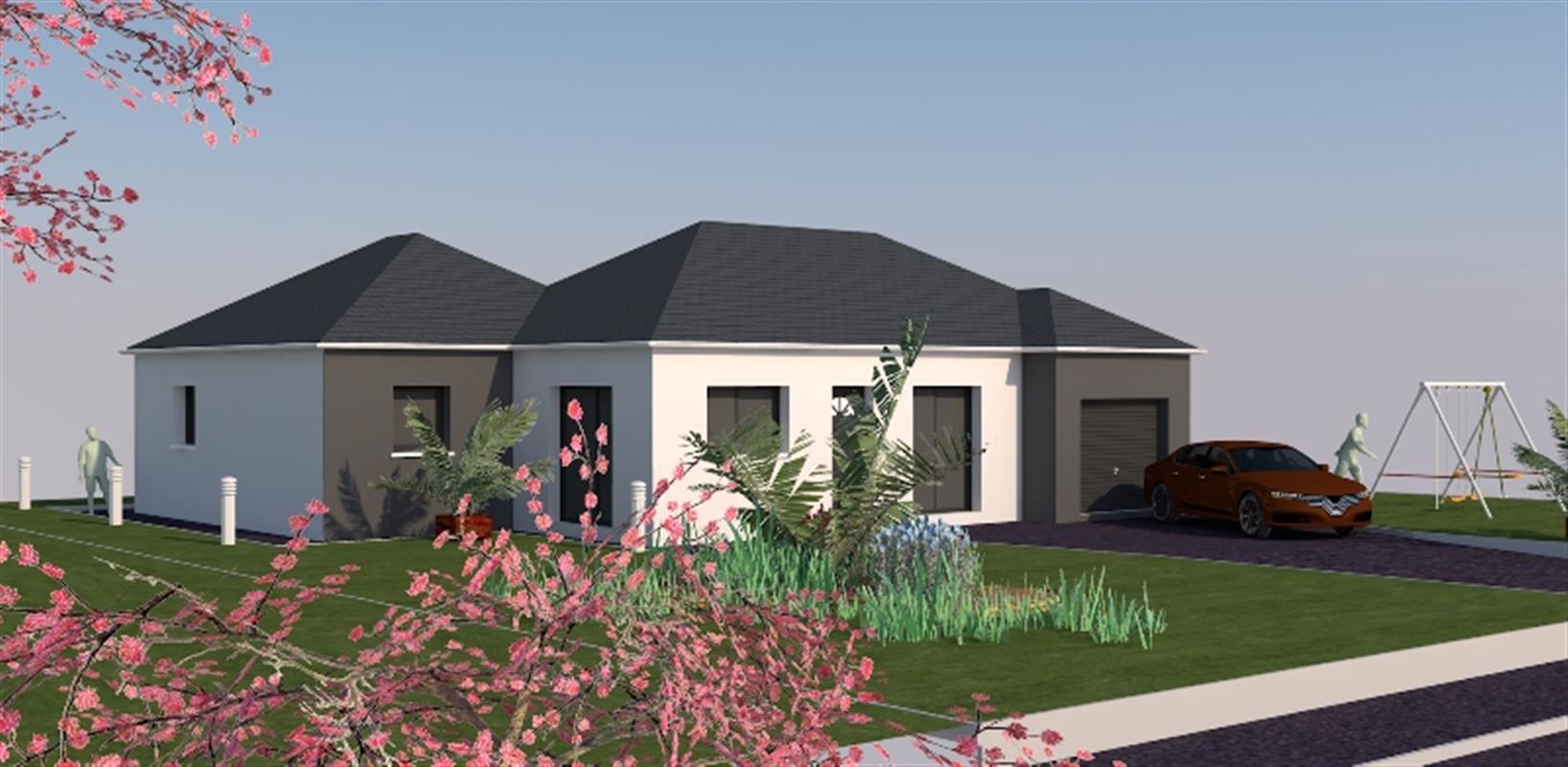 julia 91 m type f4 nos mod les de maisons neuves en ille et vilaine normandie et pays de. Black Bedroom Furniture Sets. Home Design Ideas