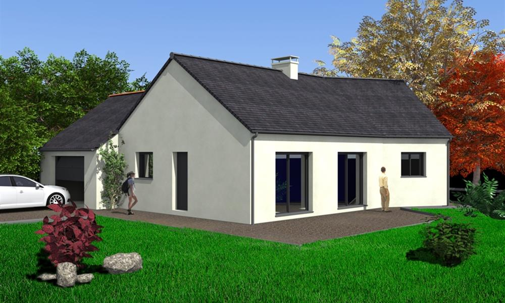 Elena 89 m type f3 catalogue constructeur maison for Constructeur maison traditionnelle